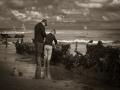 La pêche aux moules par Yvonne Berrier