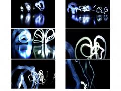 """Ecole primaire publique Roger Salengro - thème """"contraste"""" - """"Light-Calligraphie"""" - Armentières"""