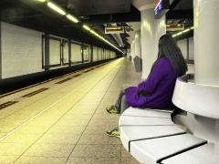 """Contrast station - Jean-Pierre Lefrançois série Auteur 1 Concours UR01 2014, """"Métro d'Amsterdam"""", coup de cœur du Juge 2."""