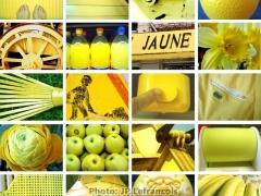 """JAUNE - Lefrançois Jean-Pierre, série Concours Auteur 2, UR01, 2016, """"Carrés de couleurs"""", série classée 9ème"""