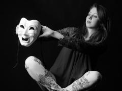 """Dubois-Geoffroy Eric, """"Face-à-face au masque"""",série classée 6ème"""