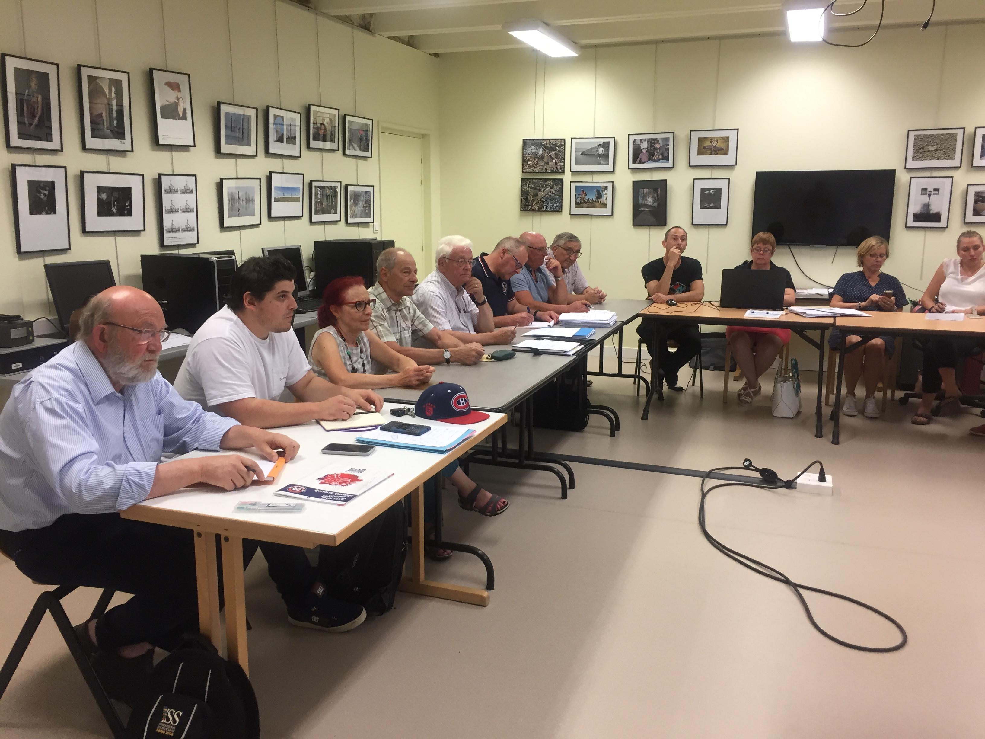 Le Conseil d'Administration du CLLA siège au Photo Club