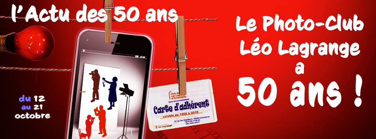 Vernissage de l'exposition «50 ans du Photo Club Léo Lagrange»