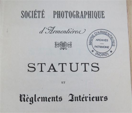 Une société photographique à Armentières il y a 118 ans