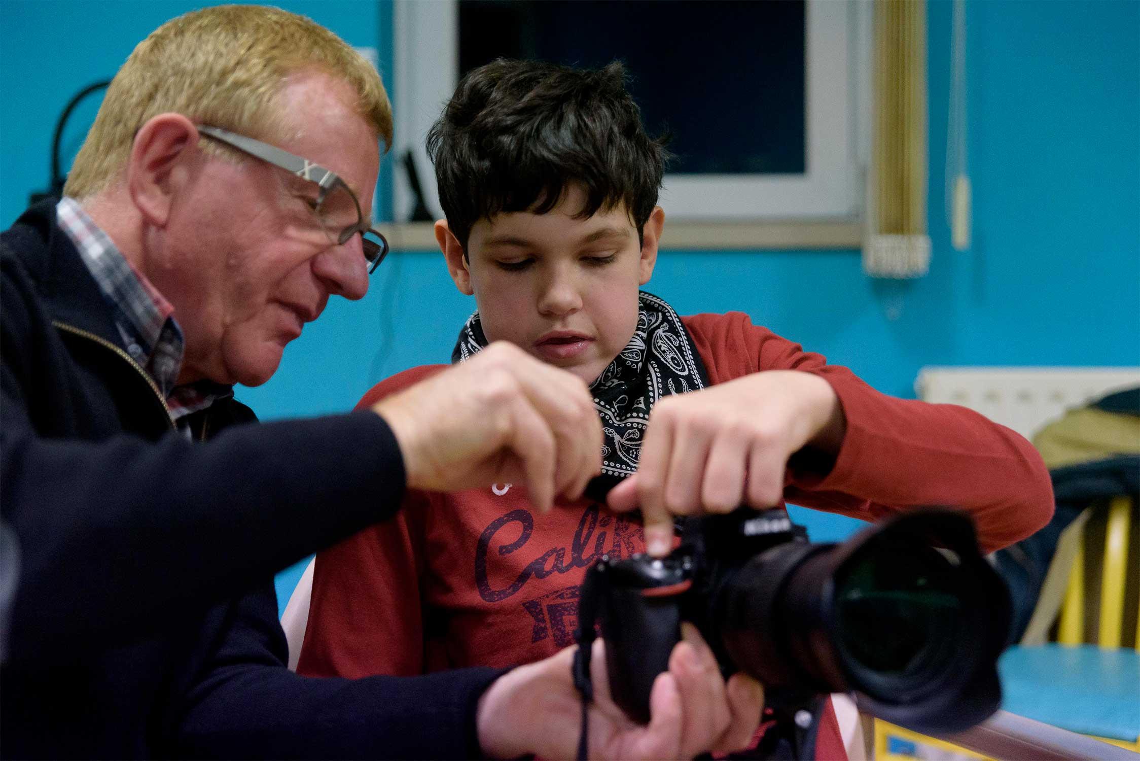 Jean-Luc Catoire et Anthony pour le projet l'Institut d'Education Motrice (IEM) GERARD HAESEBROECK de l 'ANAJI d'Armentières.